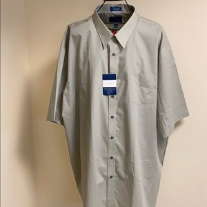 Towncraft Short Sleeve Wrinkle Free Shirt Gray 20